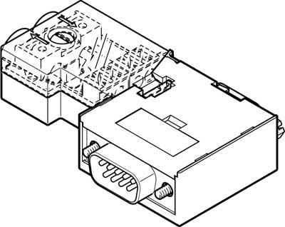 Штекер Festo NECU-S1W9-C2-APB