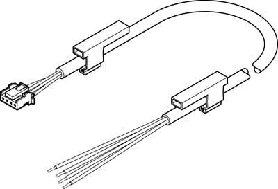 Соединительный кабель Festo NEBS-L1G4-K-2.5-LE4