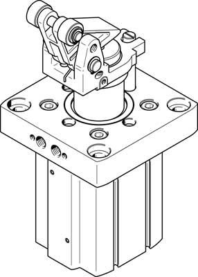 Стопорный цилиндр Festo DFST-80-40-Y4-A