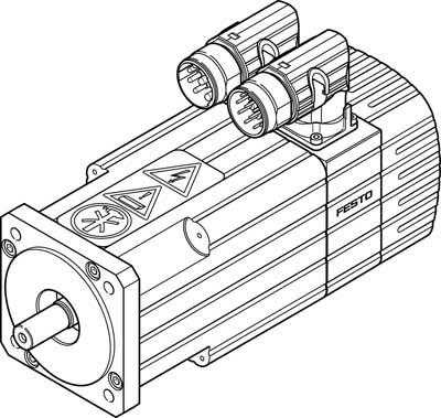 Серводвигатель Festo EMMS-AS-70-M-LV-RR-S1