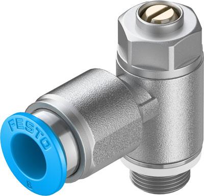 Дроссель с обратным клапаном Festo GRLA-1/8-QS-8-D