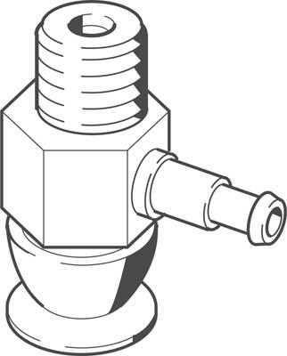 Комплектный вакуумный захват Festo 8025969 VAS-8-M5-S-PUR-B