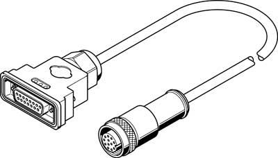 Кабель электродвигателя Festo KMTR-DC-SUB-15-M12-2,5