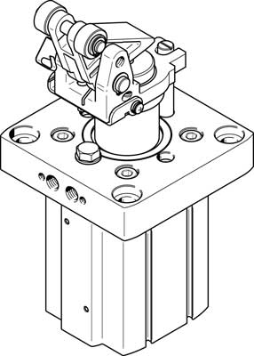 Стопорный цилиндр Festo DFST-80-40-L-Y4-A