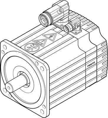 Серводвигатель Festo EMMS-AS-190-SK-HS-ARB