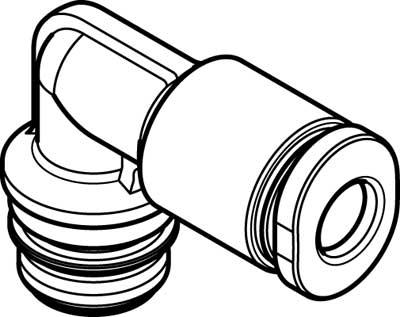 Картридж цанговый угловой Festo QSPLK10-4 (комплект 10 шт)