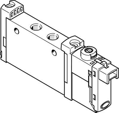 Распределитель с электроуправлением Festo VUVG-S10-M52-RT-M5-1H2L-W1