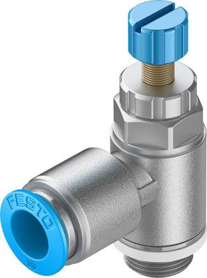 Дроссель с обратным клапаном Festo GRLA-1/4-QS-10-RS-D