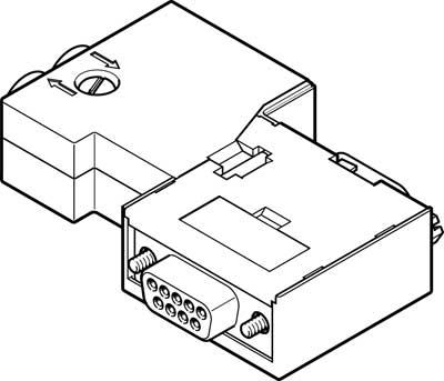 Штекер Festo NECU-S1W9-C2-ACO