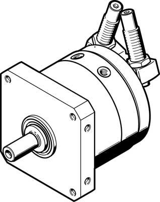 Неполноповоротный привод Festo DSM-T-63-270-CC-A-B