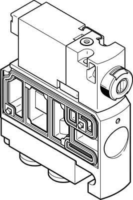 Распределитель с электроуправлением Festo CPVSC1-M1H-D-H-M5C