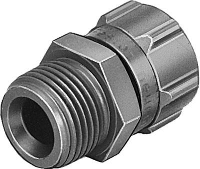 Штуцер ниппельный с накидной гайкой Festo CK-1/4-PK-6 (комплект 10 шт)