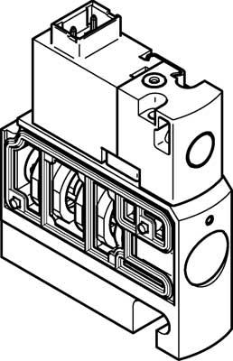 Распределитель с электроуправлением Festo CPVSC1-M5H-D-T-M5C