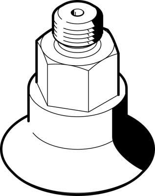 Захват вакуумный в форме колокола Festo ESS-40-GT-G1/4