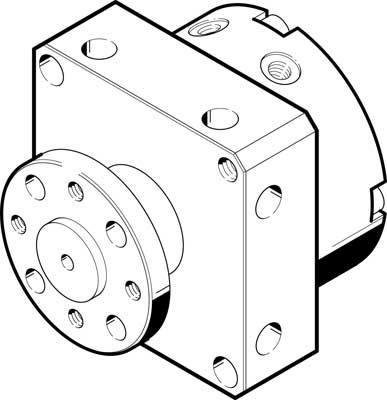 Неполноповоротный привод Festo DSM-8-90-P-FW