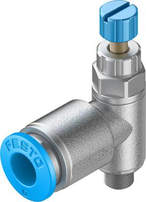 Дроссель с обратным клапаном Festo GRLA-M5-QS-6-RS-D