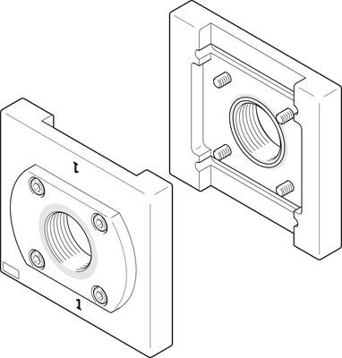 Монтажная плита Festo PAML-CP-186-HP3-G212