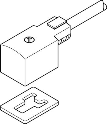 Штекерная розетка с кабелем Festo KMV-1-24DC-2,5-LED