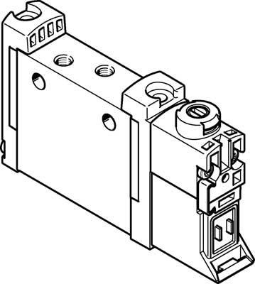 Распределитель с электроуправлением Festo VUVG-L10A-M52-MZT-M3-1P3