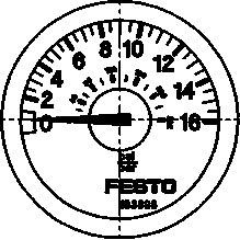 Манометр Festo MA-23-16-R1/8