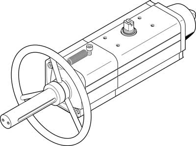 Неполноповоротный привод Festo DAPS-0120-090-RS4-F0710-MW