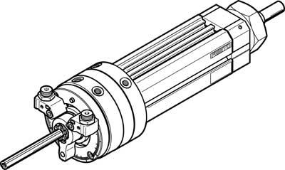 Поворотно-линейный модуль Festo DSL-40-80-270-P-A-S2-KF-B