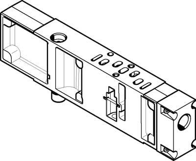 Вертикальная плита питания воздухом Festo VABF-S4-2-P1A3-G18