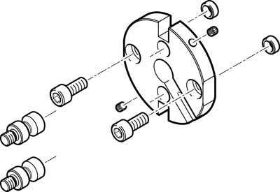 Адаптерная плита для стандартного параллельного захвата Festo HAPG-SD2-21