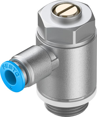 Дроссель с обратным клапаном Festo GRLA-3/8-QS-6-D