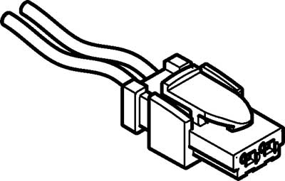 Штекерная розетка с кабелем Festo NEBV-HSG2-KN-0.5-N-LE2
