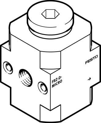 Коллектор разводящий блочный Festo FRZ-D-MINI
