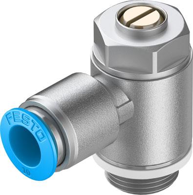 Дроссель с обратным клапаном Festo GRLA-3/8-QS-10-D