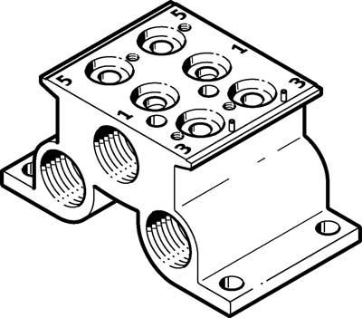 Плита для блочного монтажа Festo CPE10-PRS-1/4-2-NPT