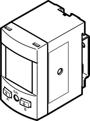 Датчик давления Festo SPAU-V1R-W-Q4D-L-PNLK-PNVBA-M8D
