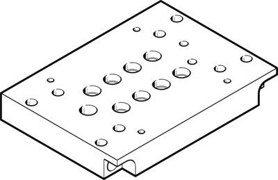 Многоканальная пневматическая плита Festo CPV10-VI-P4-M7-B