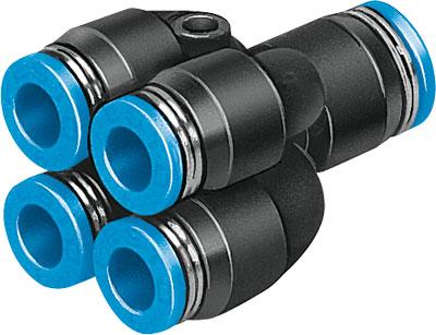 Разветвитель цанговый с четырьмя выходами Festo QSQ-8-6
