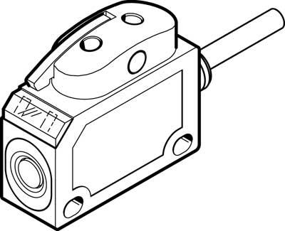 Датчик положения оптический Festo SOEG-L-Q20-PP-K-2L-TI