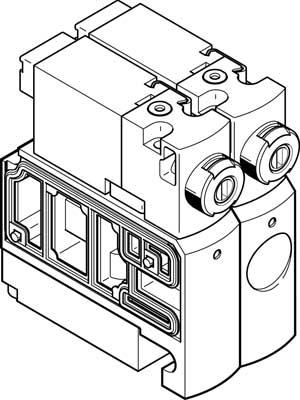 Распределитель с электроуправлением Festo CPVSC1-M1H-J-H-M5