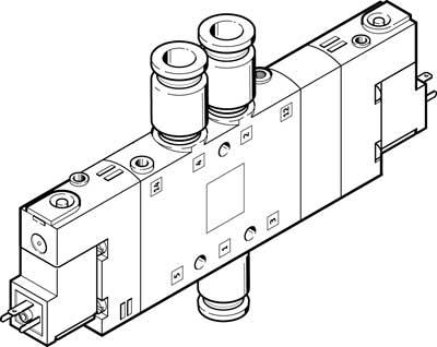 Распределитель с электроуправлением Festo CPE18-M1H-5/3B-QS-8