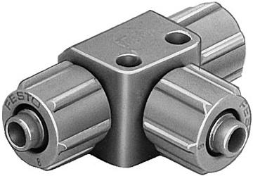 Тройник ниппельный с накидной гайкой Festo FCK-3-PK-3-KU (комплект 10 шт)