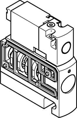 Распределитель с электроуправлением Festo CPVSC1-M1HT-D-H-Q4C