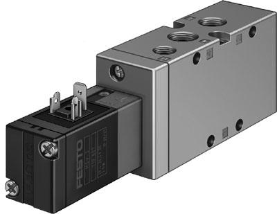 Распределитель с электроуправлением Festo MVH-5-1/4-B