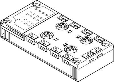 Плита для блочного монтажа Festo CPX-AB-4-M12X2-5POL-R