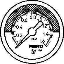 Манометр Festo MA-40-1,6-R1/8-MPA-E-RG
