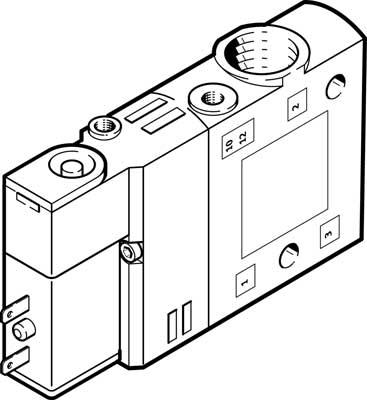Распределитель с электроуправлением Festo CPE14-M1BH-3GL-1/8