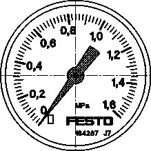 Манометр Festo MA-50-1,6-G1/4-MPA