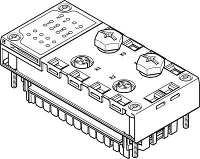 Электрический интерфейс Festo CPX-CTEL-2-M12-5POL-LK