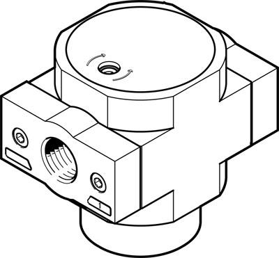 Клапан плавного пуска Festo HEL-1-D-MAXI