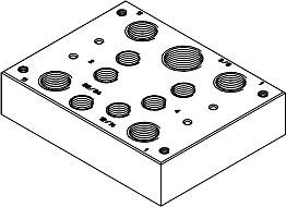 Многоканальная пневматическая плита Festo CPV10-VI-P2-M7