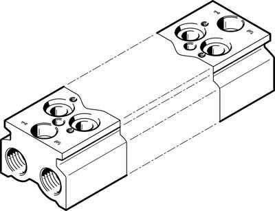 Плита для блочного монтажа Festo CPE18-3/2-PRS-3/8-4-NPT